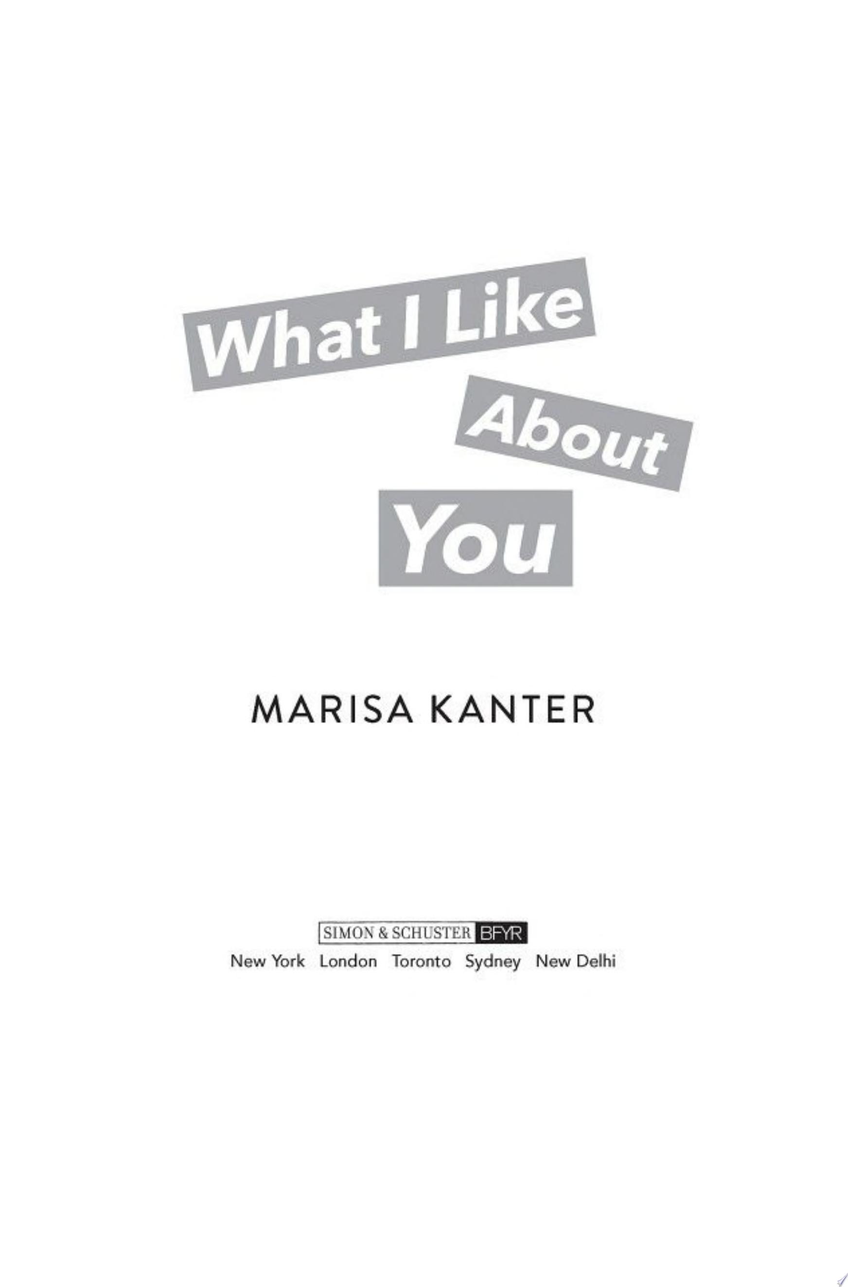 "Image for ""What I Like About You"""