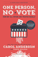 "Image for ""One Person, No Vote (YA edition)"""