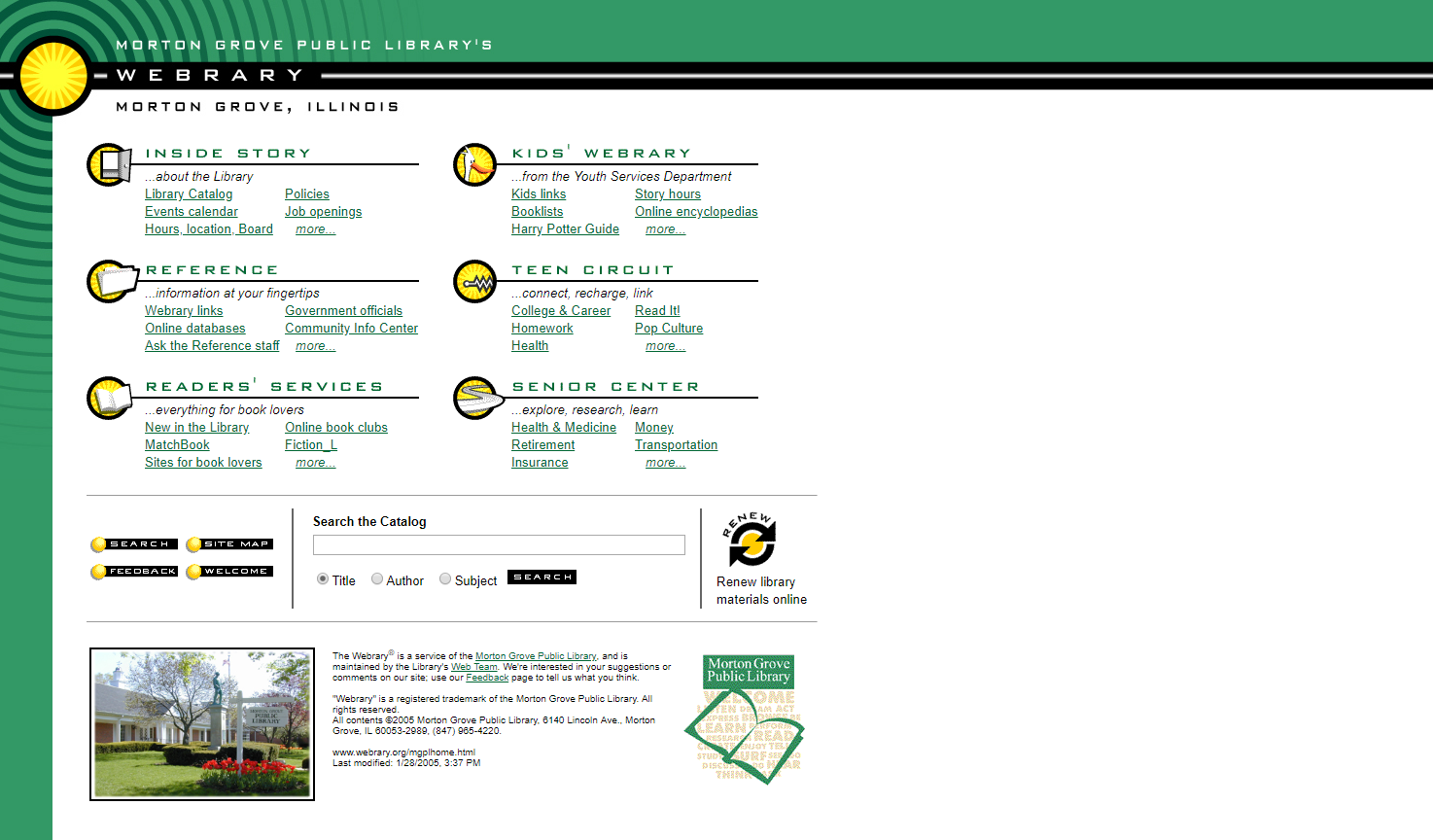 2005 website screenshot