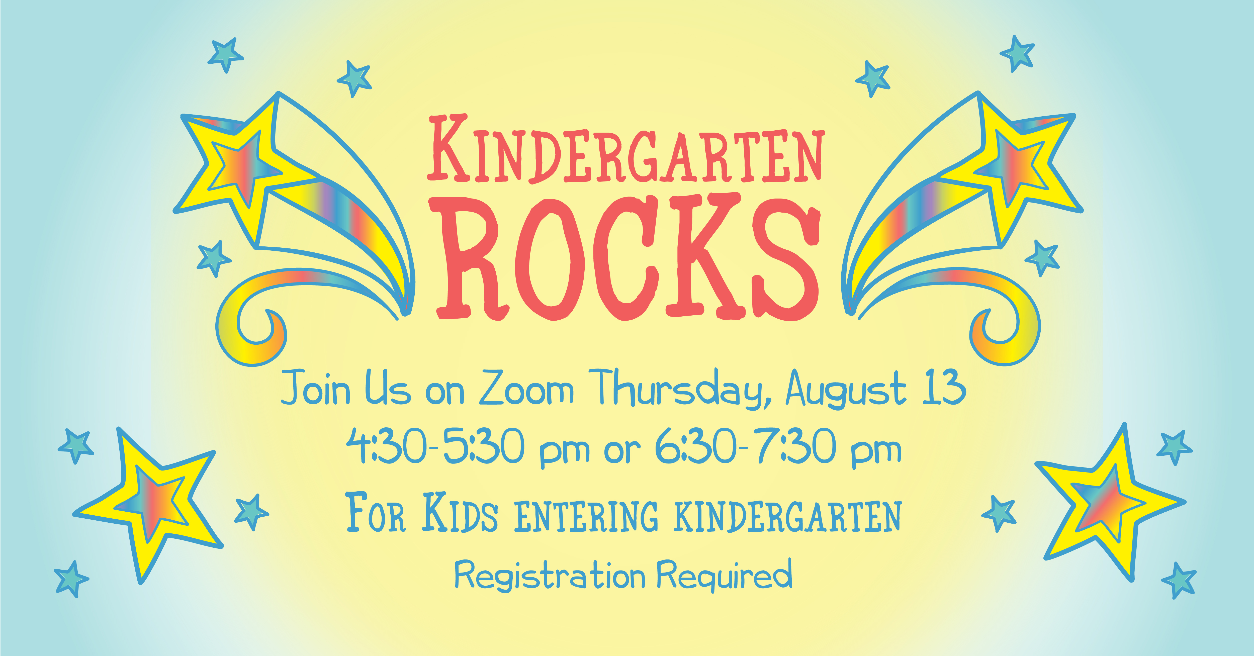kindergarten rocks graphic