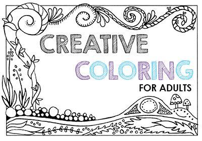 Creative Coloring for Adults | Morton Grove Public Library